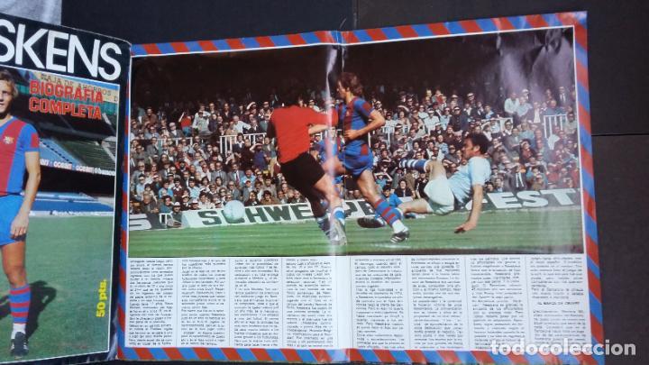 Coleccionismo deportivo: SUPERPOSTER NEESKENS ( 100 X 65 CM.) FC. BARCELONA - CON BIOGRAFIA COMPLETA - SPORT- - Foto 5 - 189436147