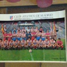 Coleccionismo deportivo: POSTER CARTEL CLUB ATLÉTICO DE MADRID. TEMPORADA 1983-83 MEDIDAS: 50X 34,50CM. Lote 190153112