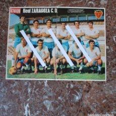 Coleccionismo deportivo: POSTER ACTUALIDAD ESPAÑOLA. FUTBOL REAL ZARAGOZA C.D. TEMPORADA 1969-1970. GRAN FORMATO 51 X 66 CM... Lote 191936131
