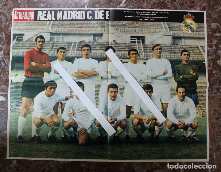 POSTER ACTUALIDAD ESPAÑOLA. FUTBOL REAL MADRID C.F. TEMPORADA 1969-1970. GRAN FORMATO 51 X 66 CM.. (Coleccionismo Deportivo - Carteles de Fútbol)