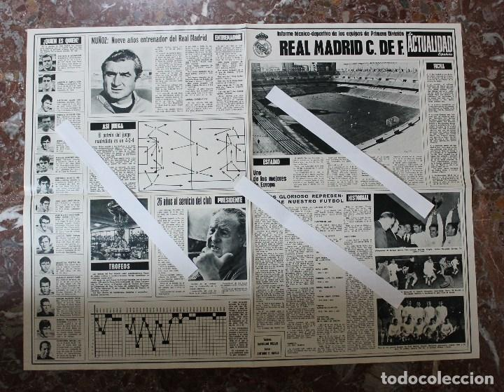 Coleccionismo deportivo: POSTER ACTUALIDAD ESPAÑOLA. FUTBOL REAL MADRID C.F. TEMPORADA 1969-1970. GRAN FORMATO 51 x 66 CM.. - Foto 5 - 191938065