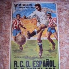 Coleccionismo deportivo: (F-200188)CARTEL C.F.IGUALADA-R.C.D.ESPAÑOL COPA DEL REY CIUDAD DE IGUALADA - 17-09-1980. Lote 192211367