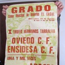 Coleccionismo deportivo: GRAN CARTEL FUTBOL CLUB OVIEDO Y ENSIDESA 1974 ASTURIAS. Lote 192369848