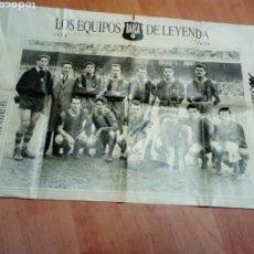 Coleccionismo deportivo: POSTER FUTBOL F C BARCELONA DE UNA REVISTA - BARÇA - COLE EQUIPOS DE LEYENDA 1959. Lote 192393868