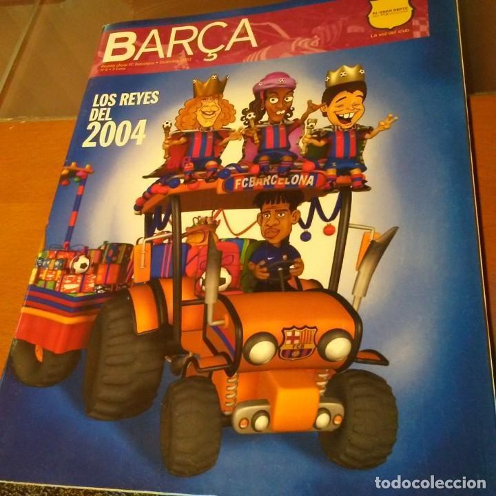 REVISTA OFICIAL FC BARCELONA CON PÓSTER N°6 (Coleccionismo Deportivo - Carteles de Fútbol)
