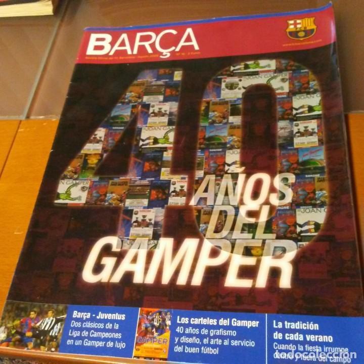 REVISTA OFICIAL FC BARCELONA CON PÓSTER N°16. AÑO 2005 (Coleccionismo Deportivo - Carteles de Fútbol)