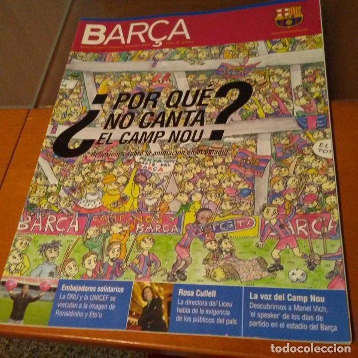 REVISTA OFICIAL FC BARCELONA CON PÓSTER N°18. AÑO 2005 (Coleccionismo Deportivo - Carteles de Fútbol)