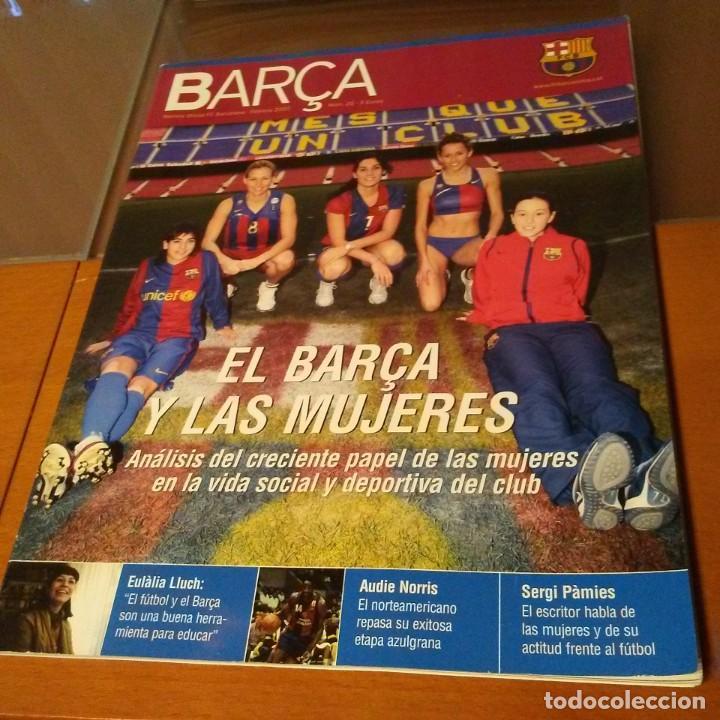 REVISTA OFICIAL FC BARCELONA CON PÓSTER N°25. AÑO 2007 (Coleccionismo Deportivo - Carteles de Fútbol)