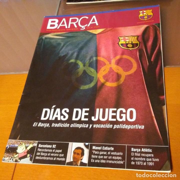 REVISTA OFICIAL FC BARCELONA N°34. AÑO 2008 (Coleccionismo Deportivo - Carteles de Fútbol)