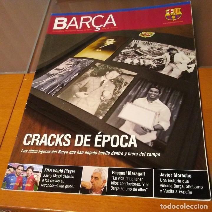 REVISTA OFICIAL FC BARCELONA CON PÓSTER N°37. AÑO 2009 (Coleccionismo Deportivo - Carteles de Fútbol)