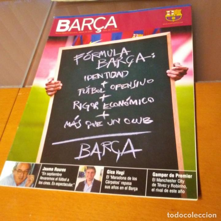 REVISTA OFICIAL FC BARCELONA CON PÓSTER N°40. AÑO 2009 (Coleccionismo Deportivo - Carteles de Fútbol)