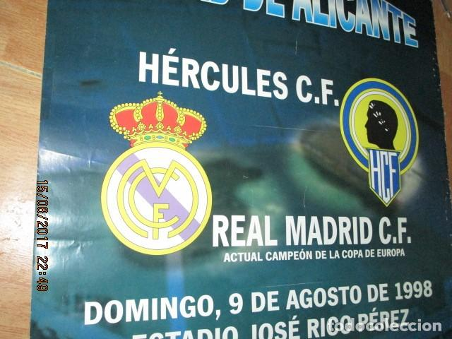 Coleccionismo deportivo: TROFEO CIUDAD DE ALICANTE HERCULES REAL MADRID DE CARTEL QUE SE EXPUSO EN CONFITERIA ALICANTE - Foto 5 - 193257213