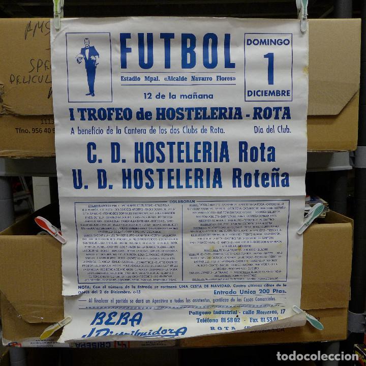 CARTEL DE FUTBOL - I TROFEO DE HOSTELERIA ROTA (Coleccionismo Deportivo - Carteles de Fútbol)