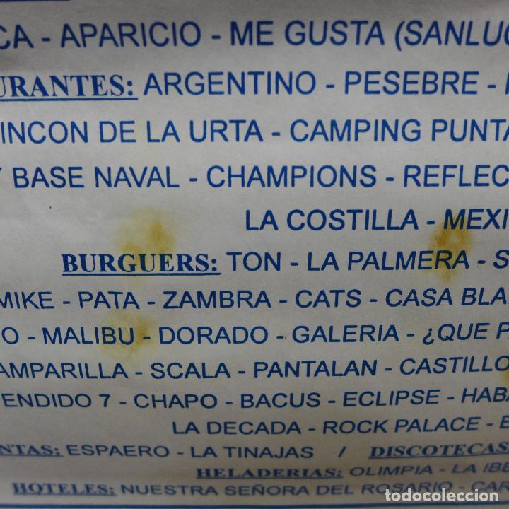 Coleccionismo deportivo: CARTEL DE FUTBOL - I TROFEO DE HOSTELERIA ROTA - Foto 3 - 194189421