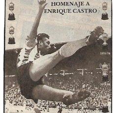 Coleccionismo deportivo: QUINI: RECORTE CON EL CARTEL DE SU HOMENAJE.. Lote 194201447