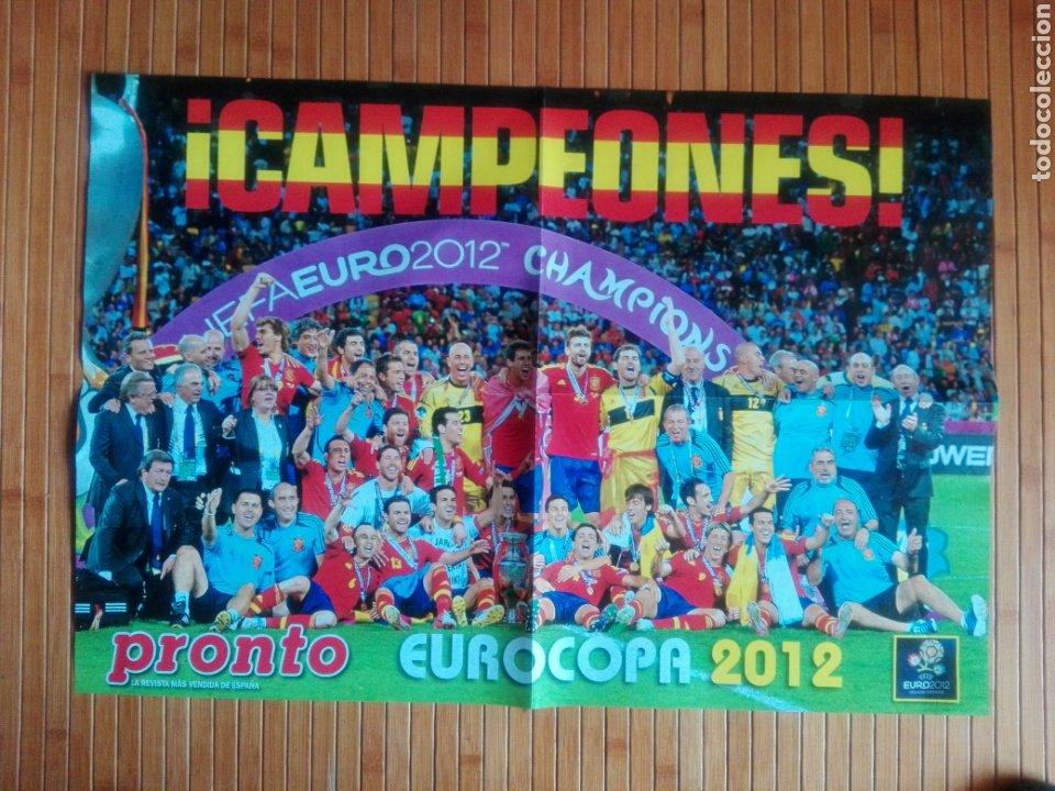 PÓSTER PRONTO CAMPEONES EUROCOPA 2012 (Coleccionismo Deportivo - Carteles de Fútbol)