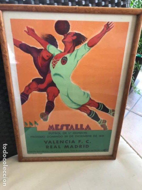 PARTIDO FÚTBOL VALENCIA CF REAL MADRID. CARTEL ORIGINAL DE 1931. LITOGRAFÍA ORTEGA. AUTÉNTICO. (Coleccionismo Deportivo - Carteles de Fútbol)