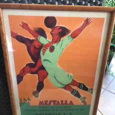 Coleccionismo deportivo: PARTIDO FÚTBOL VALENCIA CF REAL MADRID. CARTEL ORIGINAL DE 1931. LITOGRAFÍA ORTEGA. AUTÉNTICO.. Lote 194206272