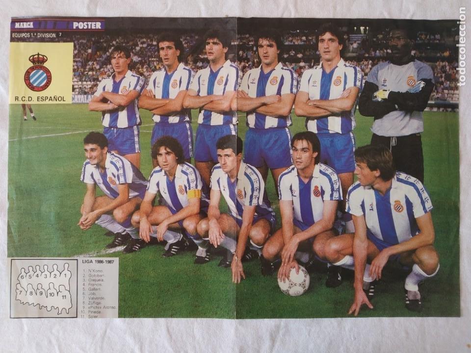 POSTER R. C. D. ESPAÑOL 1986-1987 - REAL CLUB DEPORTIVO ESPAÑOL (Coleccionismo Deportivo - Carteles de Fútbol)