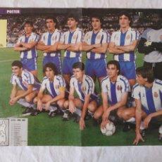 Coleccionismo deportivo: POSTER R. C. D. ESPAÑOL 1986-1987 - REAL CLUB DEPORTIVO ESPAÑOL. Lote 194302315