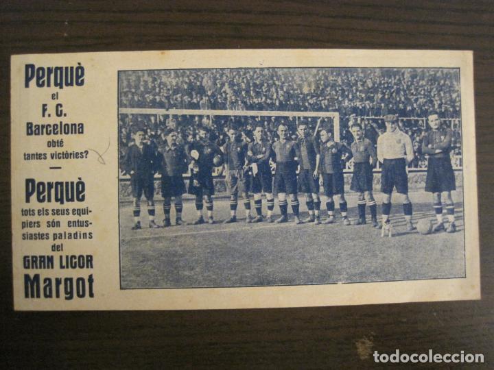 FC BARCELONA-ALCANTARA, SAMITIER, PIERA, ZAMORA...-PUBLICIDAD GRAN LICOR MARGOT-VER FOTOS-(V-19.076) (Coleccionismo Deportivo - Carteles de Fútbol)