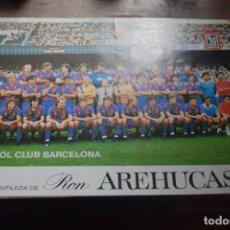 Coleccionismo deportivo: FUTBOL CLUB BARCELONA, CORTESIA DE LA PROVINCIA Y RON AREHUCAS, 1986. Lote 194378222