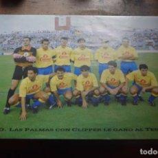 Coleccionismo deportivo: U. D. LAS PALMAS LE GANO AL TENERIFE, CORTESIA DE CLIPPR. Lote 194378870