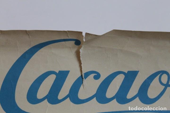 Coleccionismo deportivo: CARTEL CACAOLAT AÑO 1966 - C.F. BARCELONA - F.C.DUNDEE - COPA DE FERIAS - ORIGINAL - Foto 4 - 194385742