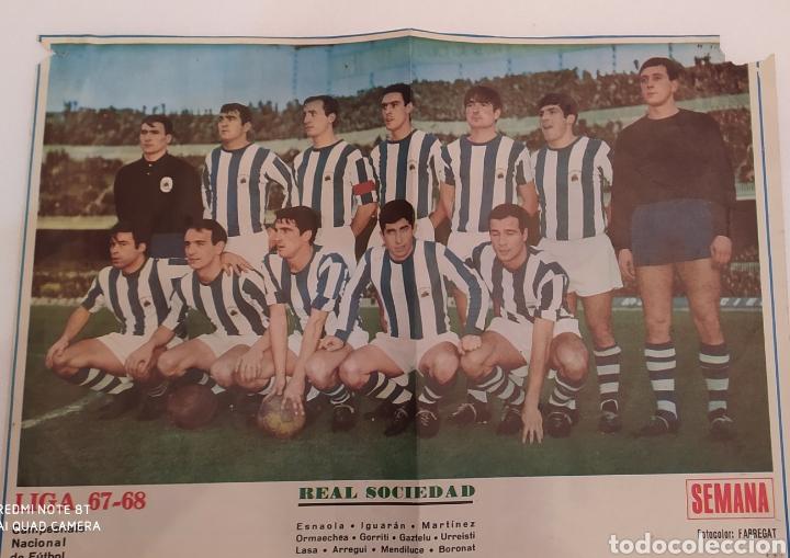 PÒSTER REAL SOCIEDAD 1967-68 (Coleccionismo Deportivo - Carteles de Fútbol)