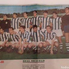 Coleccionismo deportivo: PÒSTER REAL SOCIEDAD 1967-68. Lote 194521606