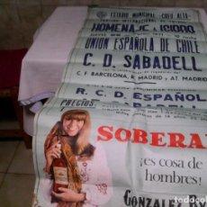 Coleccionismo deportivo: CARTEL HOMENAJE A ISIDRO ( CENTRO DE DEPORTES SABADELL ). Lote 194729760
