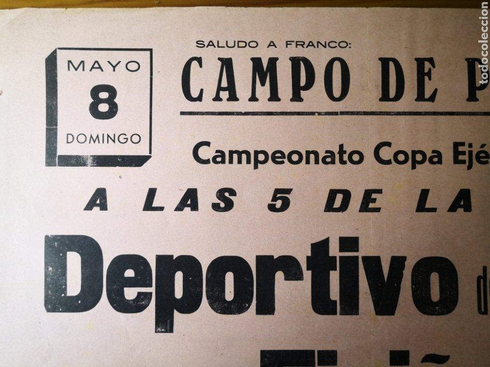 Coleccionismo deportivo: Antiguo Cartel de Futbol Años 30 - Deportivo de la Coruña - Eiriña, Copa Ejército - Foto 2 - 194732401