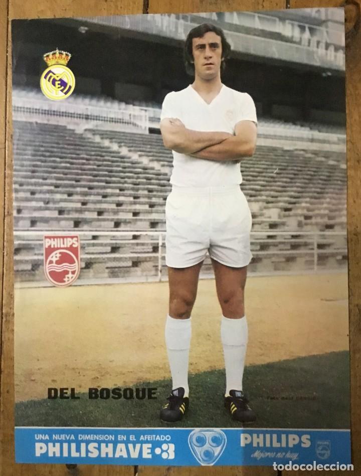 PÓSTER REAL MADRID - VICENTE DEL BOSQUE - PUBLICIDAD PHILIPS - DIN A3 (Coleccionismo Deportivo - Carteles de Fútbol)