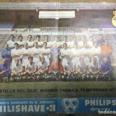 Coleccionismo deportivo: POSTER REAL MADRID - TEMPORADA1972-73 - PUBLICIDAD PHILIPS - DIN A3. Lote 194933761