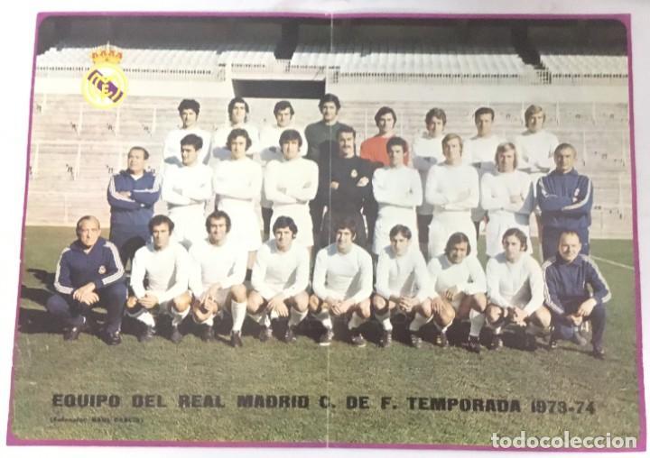 POSTER REAL MADRID - TEMPORADA1973-74 - PUBLICIDAD PHILIPS - DIN A3 (Coleccionismo Deportivo - Carteles de Fútbol)