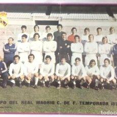 Coleccionismo deportivo: POSTER REAL MADRID - TEMPORADA1973-74 - PUBLICIDAD PHILIPS - DIN A3. Lote 194934760