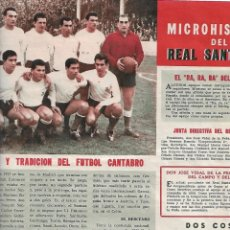 Coleccionismo deportivo: RACING DE SANTANDER. REPORTAJE TÉCNICO DE 1962. Lote 195030912