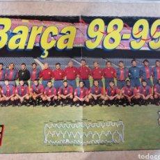 Coleccionismo deportivo: POSTER BARÇA F.C.BARCELONA 98/99 PERFECTO ESTADO. Lote 195081292