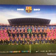 Coleccionismo deportivo: CARTEL OFICIAL FC BARCELONA TEMPORADA 2016-17. Lote 195086237