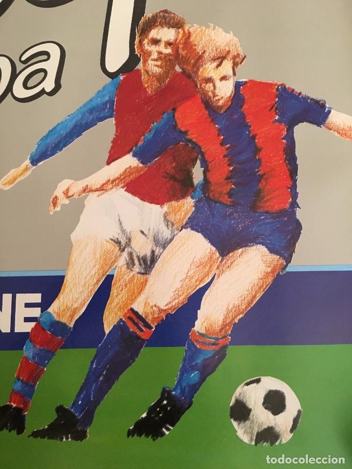 Coleccionismo deportivo: CARTEL POSTER OFICIAL ORIGINAL FINAL UEFA SUPERCOPA EUROPA BARCELONA ASTON VILLA 1982 1983 NOU CAMP - Foto 2 - 195343081