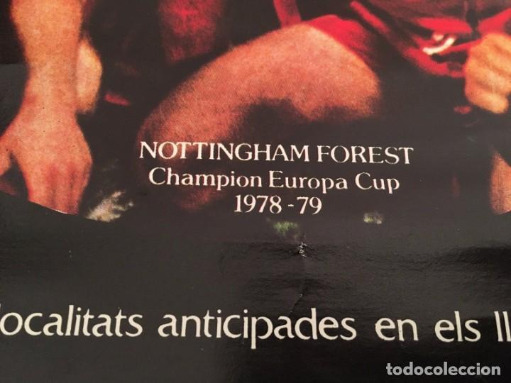 Coleccionismo deportivo: CARTEL POSTER OFICIAL ORIGINAL FINAL UEFA SUPERCOPA BARCELONA NOTTINGHAM FOREST 1979 1980 NOU CAMP - Foto 3 - 195343222