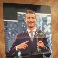 Coleccionismo deportivo: GRAN POSTER CARTEL CRISTIANO RONALDO THE BEST 2016 REAL MADRID. Lote 195343292