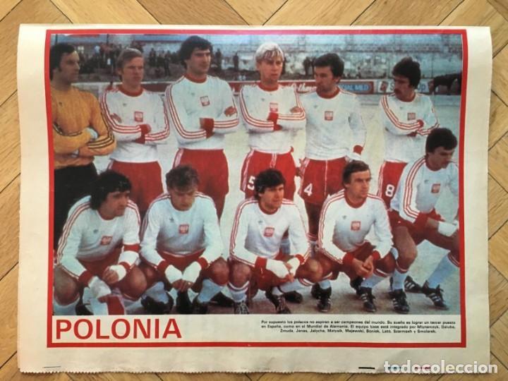 CARTEL POSTER SELECCION POLONIA POLAND MUNDIAL WORLD CUP ESPAÑA 1982 SPAIN 82 (Coleccionismo Deportivo - Carteles de Fútbol)