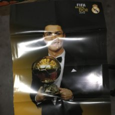 Coleccionismo deportivo: GRAN POSTER CARTEL CRISTIANO RONALDO BALON DE ORO REAL MADRID 2013 NUEVO PERFECTO ESTADO. Lote 195360787