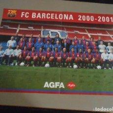 Coleccionismo deportivo: FC BARCELONA 2000- 2001. Lote 195529995