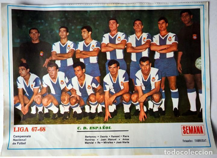LAMINA ORIGINAL DE LA REVISTA SEMANA DEL EQUIPO DE FUTBOL C.D. ESPAÑOL.LIGA 1967-68 (Coleccionismo Deportivo - Carteles de Fútbol)