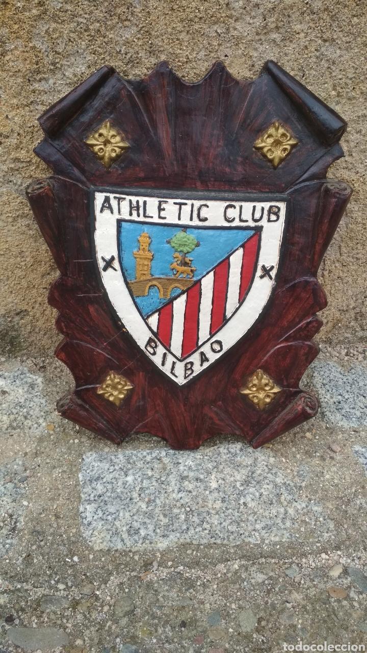 ESCUDO DEL ATHETIC DE BILBAO. (Coleccionismo Deportivo - Carteles de Fútbol)