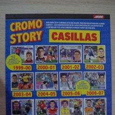 Coleccionismo deportivo: POSTER CROMO STORY CASILLAS TAMAÑO 30 X 22 REVISTA JUGON. Lote 196522973