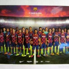 Coleccionismo deportivo: FC BARCELONA.2019-2020. POSTER OFICIAL REVERSIBLE MASCULINO-FEMENINO. 43X60 CMS.. Lote 196880227