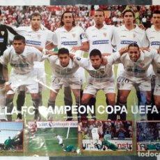 Coleccionismo deportivo: PÓSTER DEL SEVILLA FC CAMPEÓN DE LA UEFA 2006. GRAN TAMAÑO 1 M X 70 CM. Lote 197024463